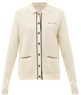 Golden Goose Amelia Logo-embroidered Piped Cardigan - Womens - Cream
