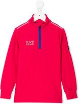 Ea7 Kids zipped sweatshirt