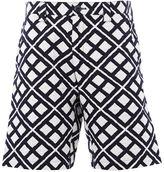 Blue Blue Japan geometric print shorts