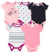 Cutie Pie Baby Pink & White Owl Bodysuit Set