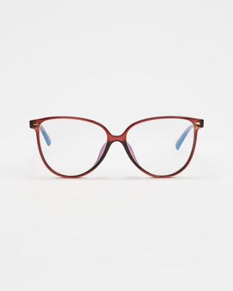 Le Specs Brown Blue Light Lenses - Eternally Blue Light Glasses - Size One Size at The Iconic
