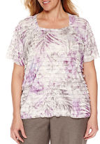 Alfred Dunner Short Sleeve Square Neck T-Shirt-Plus