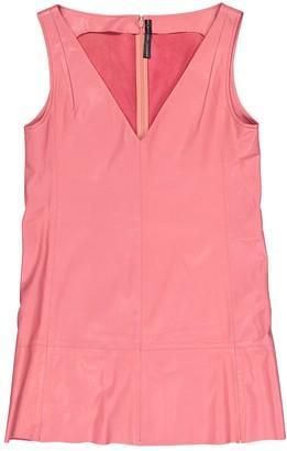 Balenciaga Pink Leather Dresses