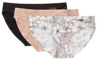 AQS Assorted Seamless Bikini Cut Panties - Pack of 3