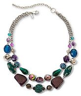 JCPenney Aris by Treska Teal & Purple Chunky Bead Double-Strand Necklace