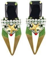 Iosselliani 'Full Metal Jewels' clip-on earrings