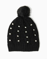 Charming charlie Studded Knit Pom Beanie