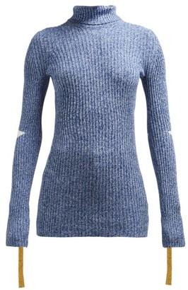 2 Moncler 1952 - Roll-neck Cotton-blend Sweater - Blue Multi