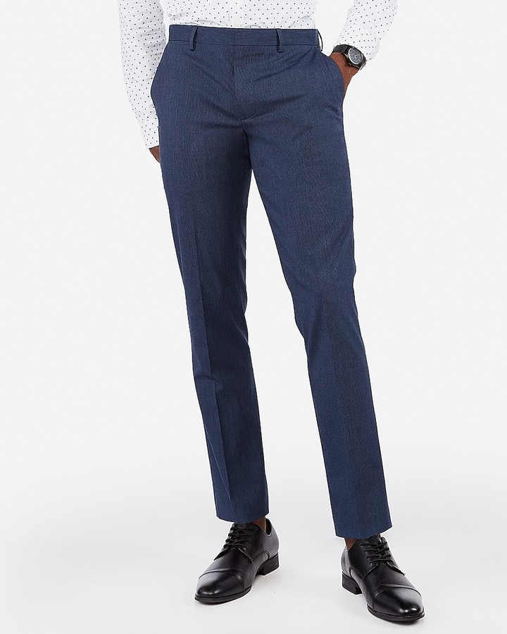 Extra Slim Stripe Wrinkle Resistant Stretch Dress Pant