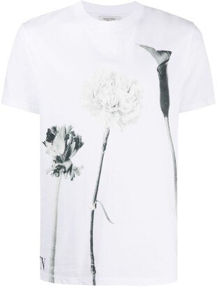 Valentino floral-print short-sleeve T-shirt