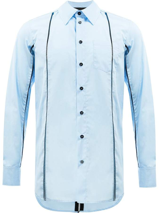 Yang Li laddered panel shirt