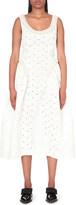 Simone Rocha Bead-embellished laminated-cotton dress