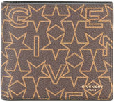 Givenchy logo star print wallet - men - Cotton/Polyester/Polyurethane - One Size