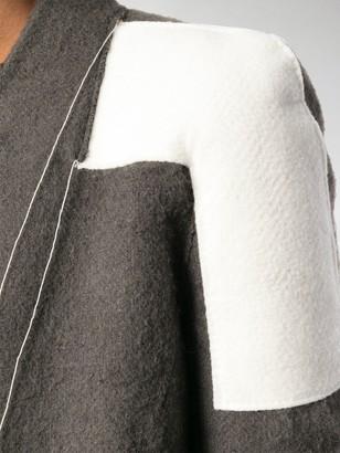 Rick Owens Patchwork Panelled Coat