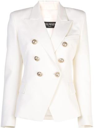 Balmain Peaked Lapel Blazer Jacket