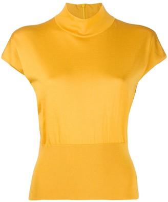 Dolce & Gabbana mock neck ribbed detail T-shirt