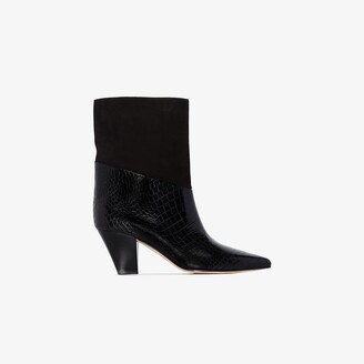 Jimmy Choo black Bear 65 suede leather ankle boots