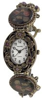 Pedre Women's 4971GX Antique Gold-Tone Crystal Charm Watch