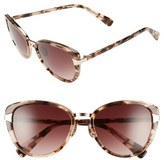 Oscar de la Renta Women's '219' 55Mm Cat Eye Sunglasses - Gold