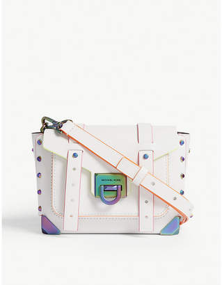 MICHAEL Michael Kors Manhattan small leather satchel