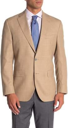 David Donahue Ashton Tan Two Button Notch Lapel Wool Suit Separates Jacket