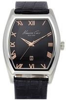 Kenneth Cole New York Tonneau Leather Strap Watch, 40mm