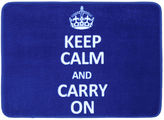 JCPenney Mohawk Home Keep Calm and Carry On Bath Rug