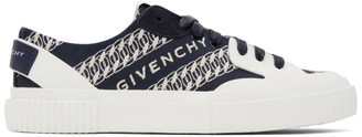 Givenchy Navy Chain Tennis Light Sneakers