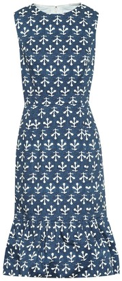 Oscar de la Renta Exclusive to Mytheresa Printed stretch-cotton poplin dress
