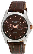 Kenneth Cole Diamond Croc-Embossed Leather Watch