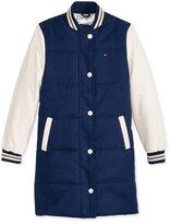 Tommy Hilfiger Long Puffer Baseball Jacket, Girls (7-16)