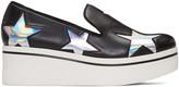 Stella McCartney Black Binx Holographic Stars Loafers