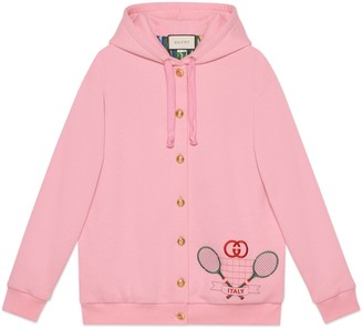 Gucci Hooded sweatshirt with Tennis