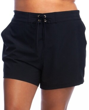 La Blanca Plus Size Aboard Boardshorts Women's Swimsuit