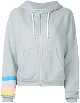 Wildfox Couture printed zipper hoodie - women - Cotton/Polyester - S
