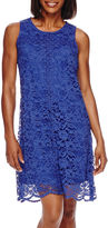 Donna Ricco Sleeveless Crochet Lace A-Line Dress - Petite