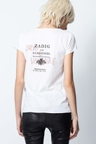 Zadig & Voltaire Destinee Strass Cotton Tunisian-Collar T-shirt