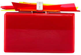 Edie Parker Wolf Ribbon Clutch Bag