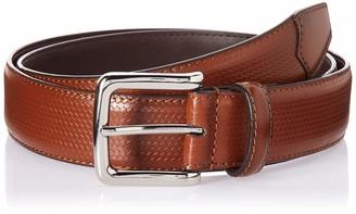 Florsheim Men's Marshall 33MM Woven Dress Leather Belt