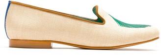 Blue Bird Shoes Palmeira Leque straw loafers