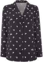 Therapy Swan Print Pyjama Blouse