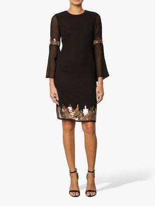 Raishma Embellished Tunic Dress, Black