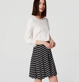 LOFT Chevron Circle Skirt