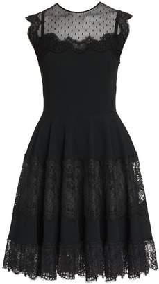 Dolce & Gabbana Sleeveless Lace Flutter Mini Dress