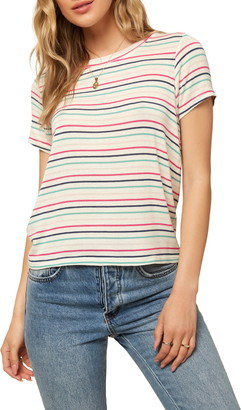 O'Neill Audrey Stripe Short Sleeve Sweater