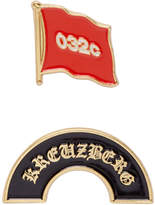 032c Set of Two Gold Enamel Pins