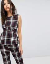 PrettyLittleThing Plaid Check Structured Top