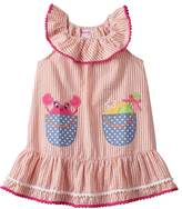 Nannette Toddler Girl Applique Seersucker Dress