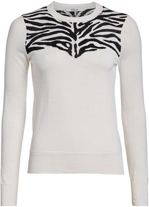 Derek Lam 10 Crosby Thea Zebra Sweater