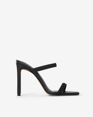 Express Elastic Strap Heeled Sandals